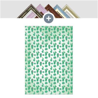 인테리어 캔버스 꽃액자 선인장액자 선인장 패턴 B