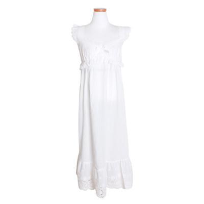 [쿠비카]레이스 롱민소매 원피스 여성잠옷 W469