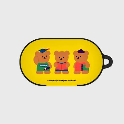 Smart bear friends-yellow(Buds hard case)