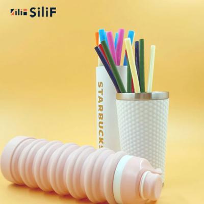 실리프 에코 실리콘 빨대 M 10종세트(세척솔 증정)