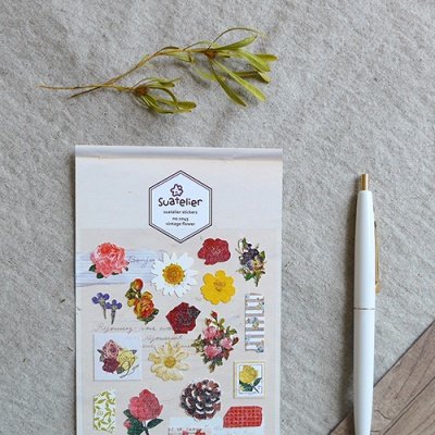 JR 스티커 1045-vintage flower