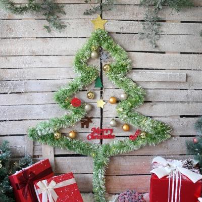 크리스마스 샤틴모루 벽트리 세트 (라임그린)