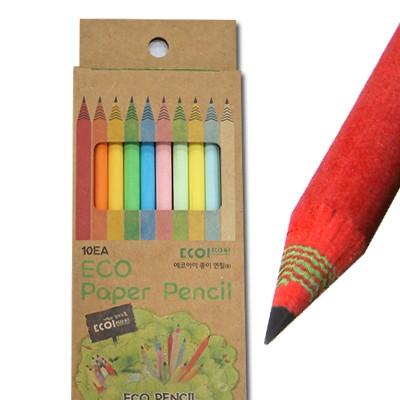 에코아이  색종이 지우개연필 Paper Pencil 10P 지합세트