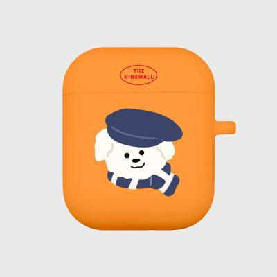 모자 쓴 뽀꾸 에어팟 케이스 [orange]