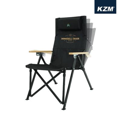 [카즈미] 다운힐체어 (블랙) 롱릴렉스체어 K20T1C32BK