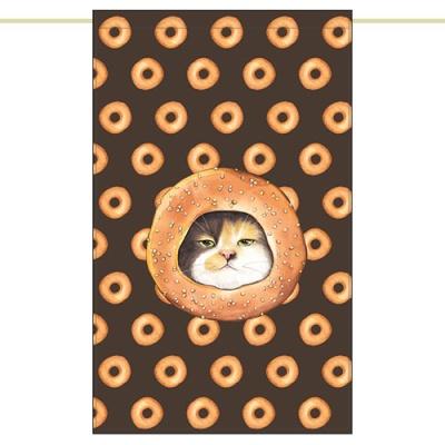 노렌(입구커튼) - 도너츠고양이 (51X81cm)