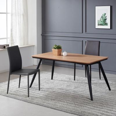 토바 무늬목 식탁 세트A 1400 + 의자 2개포함