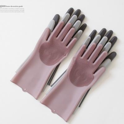 [2HOT] 파스텔실리콘 매직싹싹 수세미장갑 (양손)