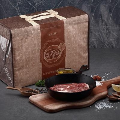 [Premium Pork] 듀록 흑돼지 목살 세트/500gx2팩