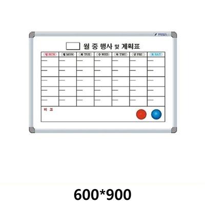 선영 월계 화이트보드 자석달력 600X900