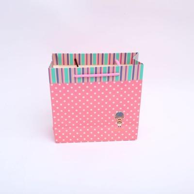 3꼬마병정 핑크백 중 손잡이 종이 선물 사각 백 가방