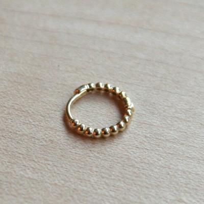 10K  gold ponde ring earring