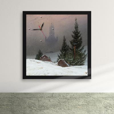 px056-명화82_카스파르다비드프리드리히의겨울풍경액자벽시계_디자인액자시계