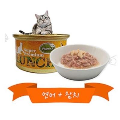 애묘 습식 사료 간식 80g 연어 참치 비타민E 비타민A