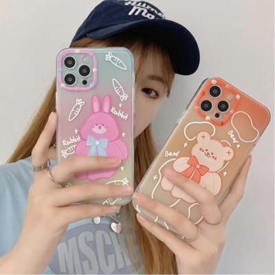 아이폰 x xr xs max se2 8 풀커버 곰돌이 젤리 케이스