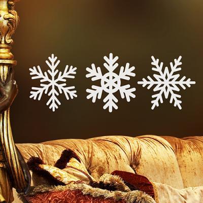 크리스마스 눈꽃세트 03  (반제품B타입) 그래픽스티커 월데코 DIY리폼 시트지