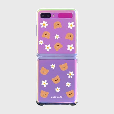 Dot flower bear(Z플립-투명하드)