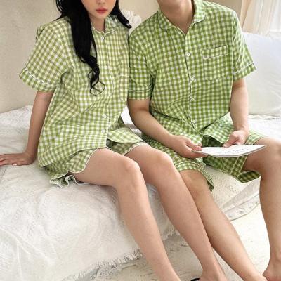 Vegetable Check Pajama Set - 커플룩