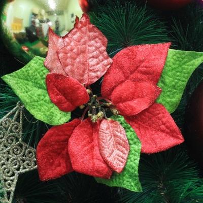 2p 크리스마스 포인세티아(레드) (小) (17cmx22cm)