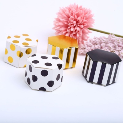 땡땡이블랙 육각상자 미니 선물 포장 케이스 박스