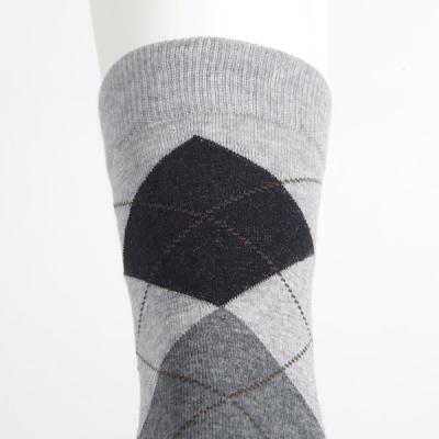 [쿠비카]신사 아가일 패턴 정장 남성 중목양말 L426