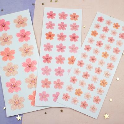스티커펀 벚꽃잎 글리터 스티커(st175)