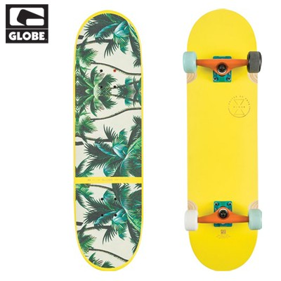 [GLOBE] 32 BANSHEE X YELLOW/PALMS X FULLY FUNCTIONAL SKATE CRUISER COMPLETE