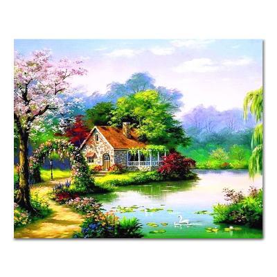 DIY 페인팅 봄의 호수마을 PH97 (50x40)