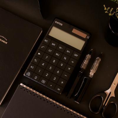 갓샵 블랙 디자인 미니 사무용 전자 계산기 심플 컬러