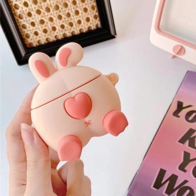 에어팟 1/2/3/프로 토끼 엉덩이 캐릭터 실리콘 케이스