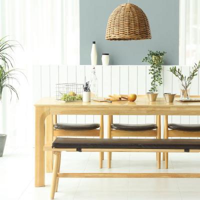 [채우리] 이랑 6인 원목 식탁세트(의자/벤치)
