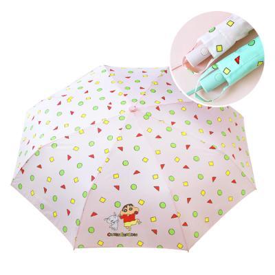 짱구 부리부리댄스 3단 자동 우산-핑크