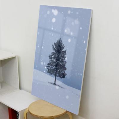 da149-폼아크릴액자56CmX78Cm_눈오는날나무한그루