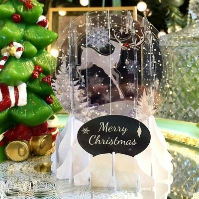스노우볼 크리스마스 입체 카드