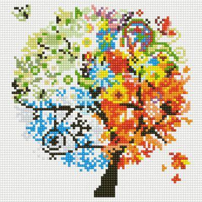 아이엠미니 DIY 보석십자수 25x25_상상 속 나무