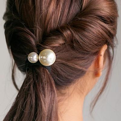 더블 진주 머리끈