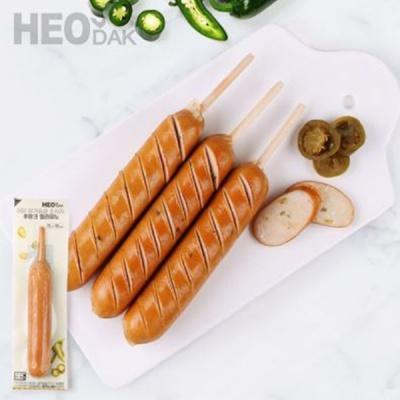 [허닭] [BEST] 닭가슴살 소시지 후랑크 할라피노 70g