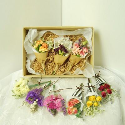 두쓰하우스 드라이플라워 미니 꽃다발 3종 세트 (5종 택1)