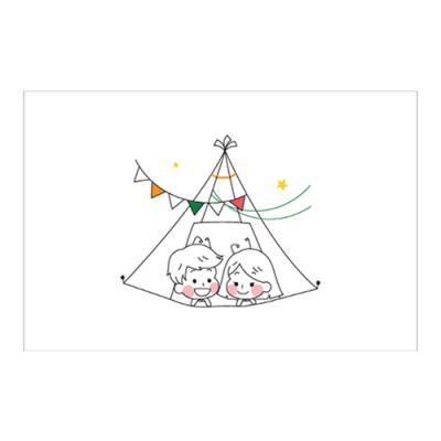 왈가닥스 러블리 포스트카드 엽서 - camping