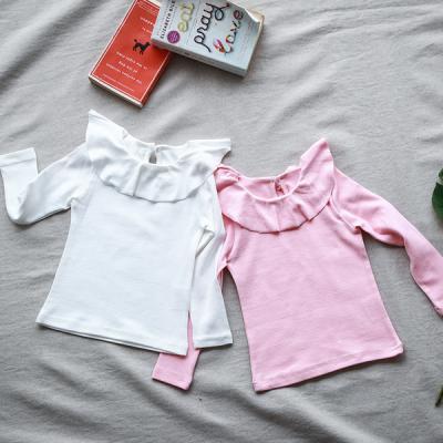 [보니스텔라] 17SS007 러플 기본 티셔츠