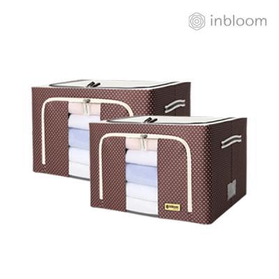인블룸 1+1세트 도트 리빙박스 100L 브라운