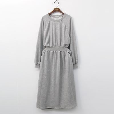 Pocket Fit N Flare Long Dress