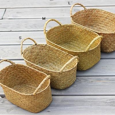 [2HOT] 타원형핸들 해초바구니 M