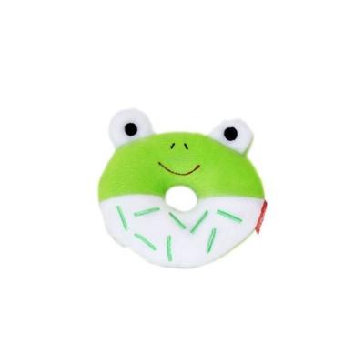 펫투유 우쭈쭈 큐티도넛 삑삑이 장난감 1개 개구리