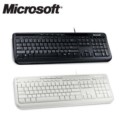 마이크로소프트 유선 키보드 Wried Keyboard 600 (멀티미디어 키 / 계산기 키 / Xbox360지원 / 생활 방수)