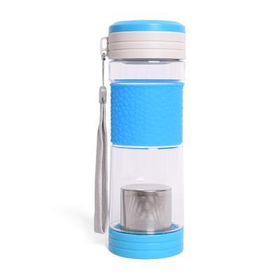 휴대차통 트라이탄 녹차물병 400ml 블루