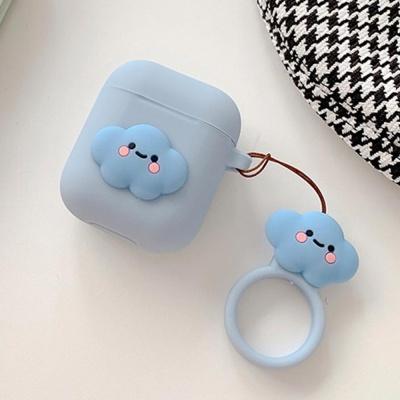 에어팟 1 2 귀여운 실리콘 케이스 키링_푸른구름 432
