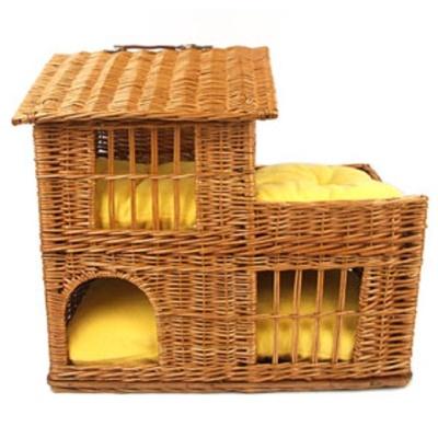 강아지 고양이 캣 독 라탄 하우스 A 강아지 쿠션
