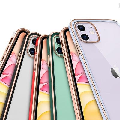 아이폰 12 미니 크롬 투명/하드 컬러 범퍼 케이스