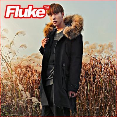 [플루크 패딩] 몬타누스 리얼라쿤 N38야상 패딩 점퍼 블랙FPJ1522-BLACK FLUKE 15FW